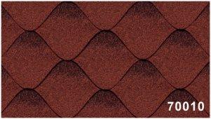 Битумная черепица Kerabit Волна красно-черного цвета, форма S