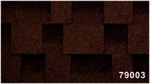 Битумная черепица Kerabit Квадро коричнево-черного цвета, форма L