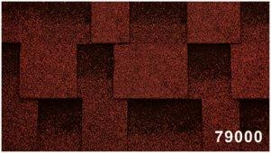 Битумная черепица Kerabit Квадро красно-черного цвета, форма L