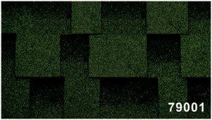 Битумная черепица Kerabit Квадро зелено-черного цвета, форма L
