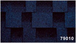 Битумная черепица Kerabit Квадро синего цвета, форма L